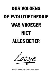 Loesje evolutietheorie