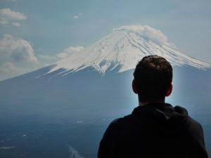Sebastiaan Fransen en Mount Fuji